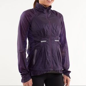 Lululemon run wild jacket Concord grape RARE